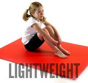 Lightweight gymnastics mats from Gym Master Ltd