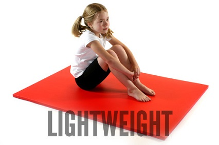 Lightweight gymnastics mats from Gym Master Ltd